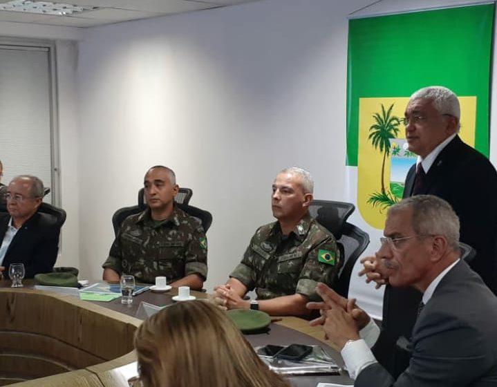 Comando da 7ª Brigada de Infantaria Motorizada visita a Secretaria de Estado da Segurança Pública do RN