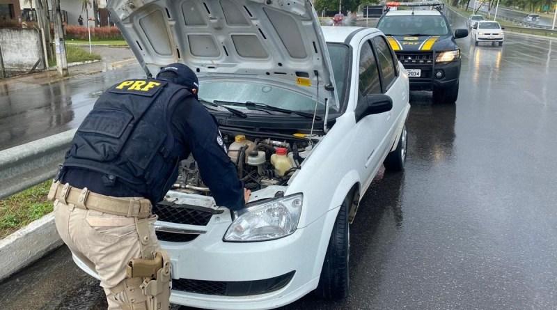 Mais um veículo roubado é recuperado pela PRF na BR 101 em Natal/RN