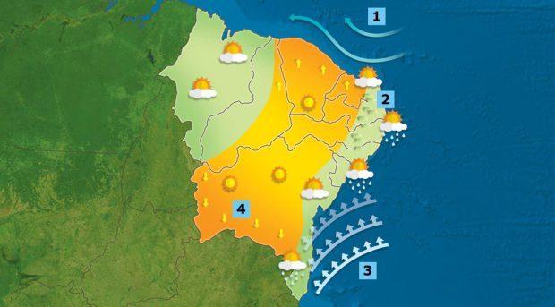 Inmet emite alerta de chuva com 'perigo potencial' e ventos de até 60 km/h