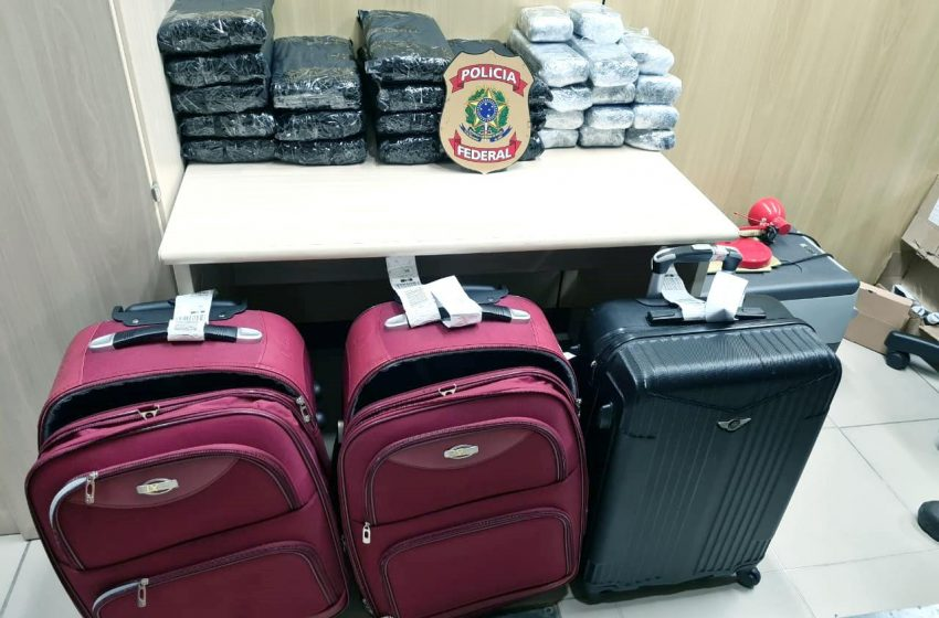 PF prende cinco pessoas e faz apreensão recorde de maconha no aeroporto de Natal