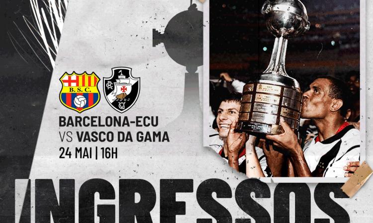 Vasco vende ingressos virtuais para reprise da final da Libertadores