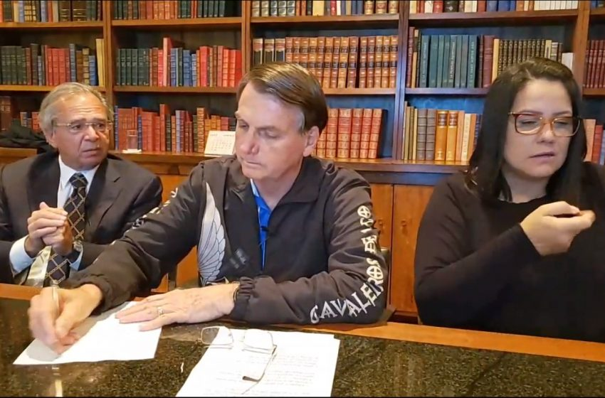 Bolsonaro anuncia que Auxílio Emergencial será estendido por 3 meses
