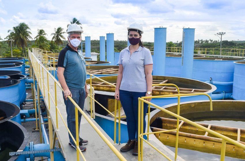 Vereador Pr. Edmilson Gomes esteve na adutora Rio Maxaranguape que irá levar água de qualidade para São Gonçalo do Amarante