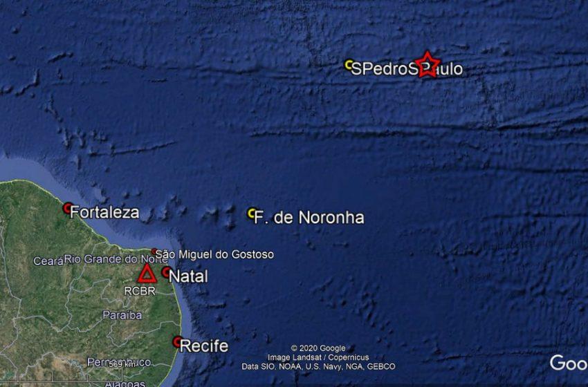 Terremoto de 6.9 de magnitude é registrado no Atlântico próximo ao arquipélago São Pedro e São Paulo