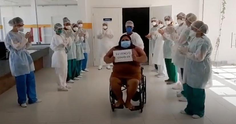 Primeira alta aconteceu hoje no Hospital de Campanha em São Gonçalo do Amarante/RN.