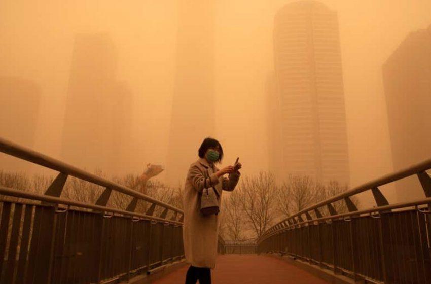 MUNDO – China sofre segunda tempestade de areia em duas semanas