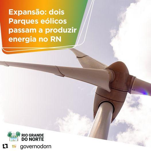 Dois parques eólicos passam a produzir energia no RN