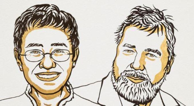 Jornalistas levam Nobel da Paz por preservar liberdade de expressão
